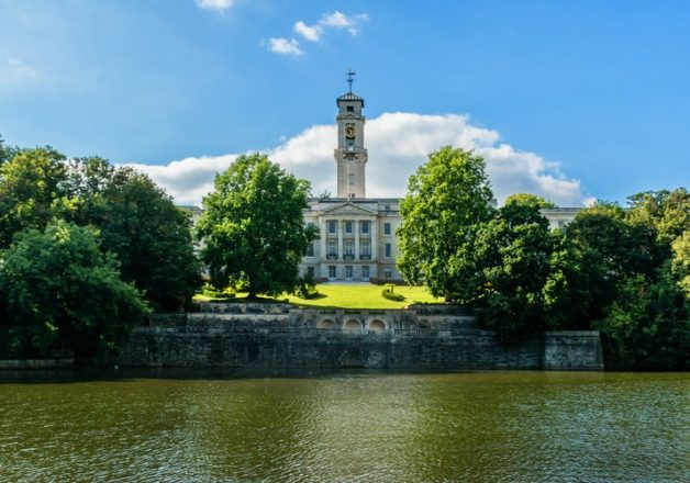 university of nottingham trent building and clock tower