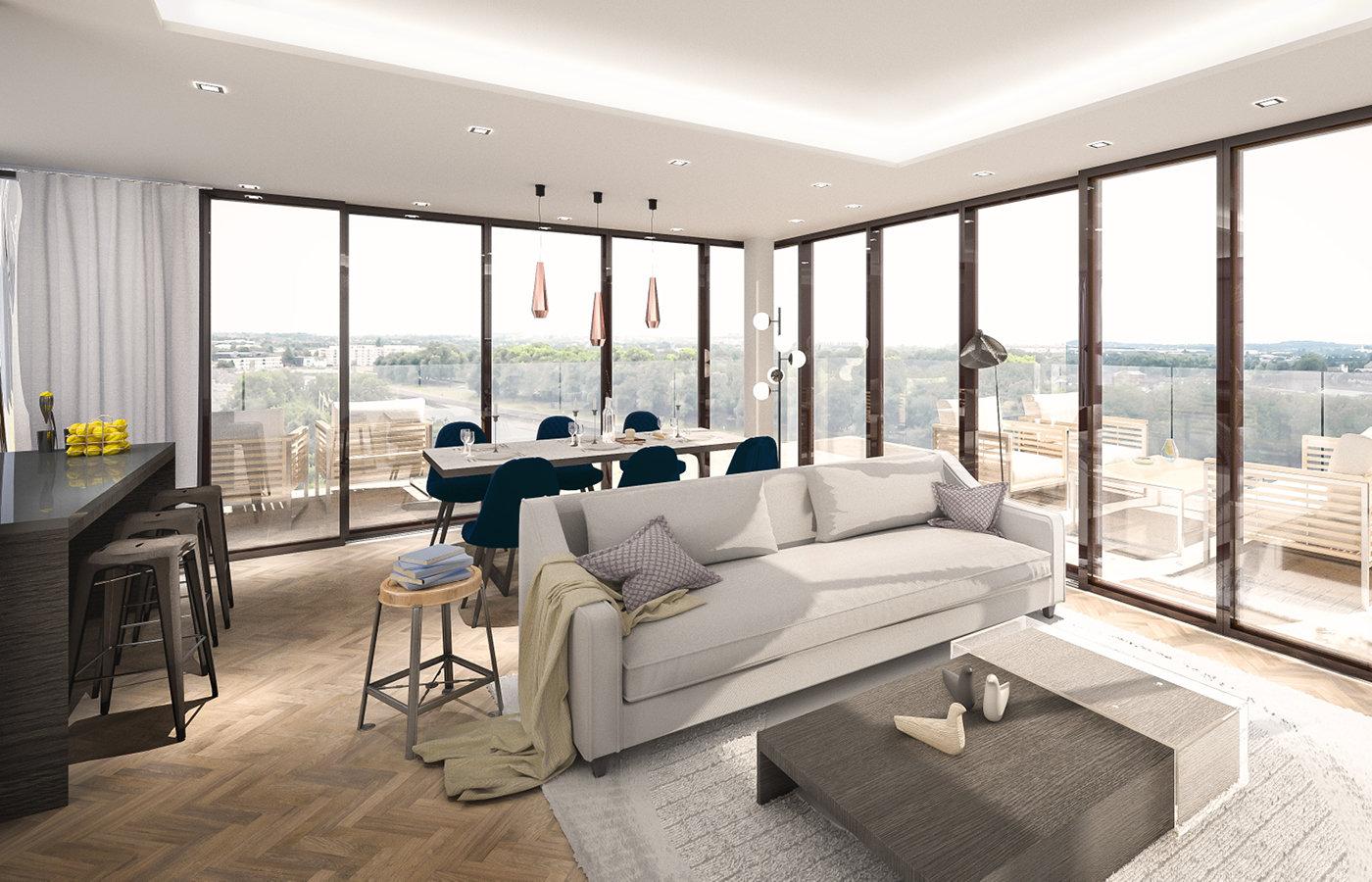 luxury waterside apartments nottingham penthouse