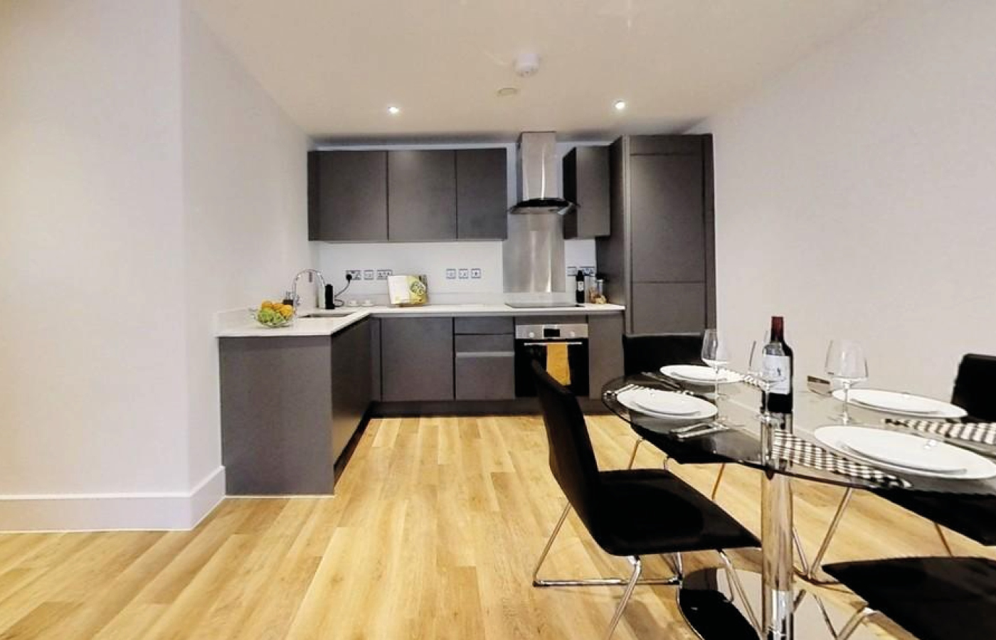 luxury apartment nottingham bridgford place kitchen / diner