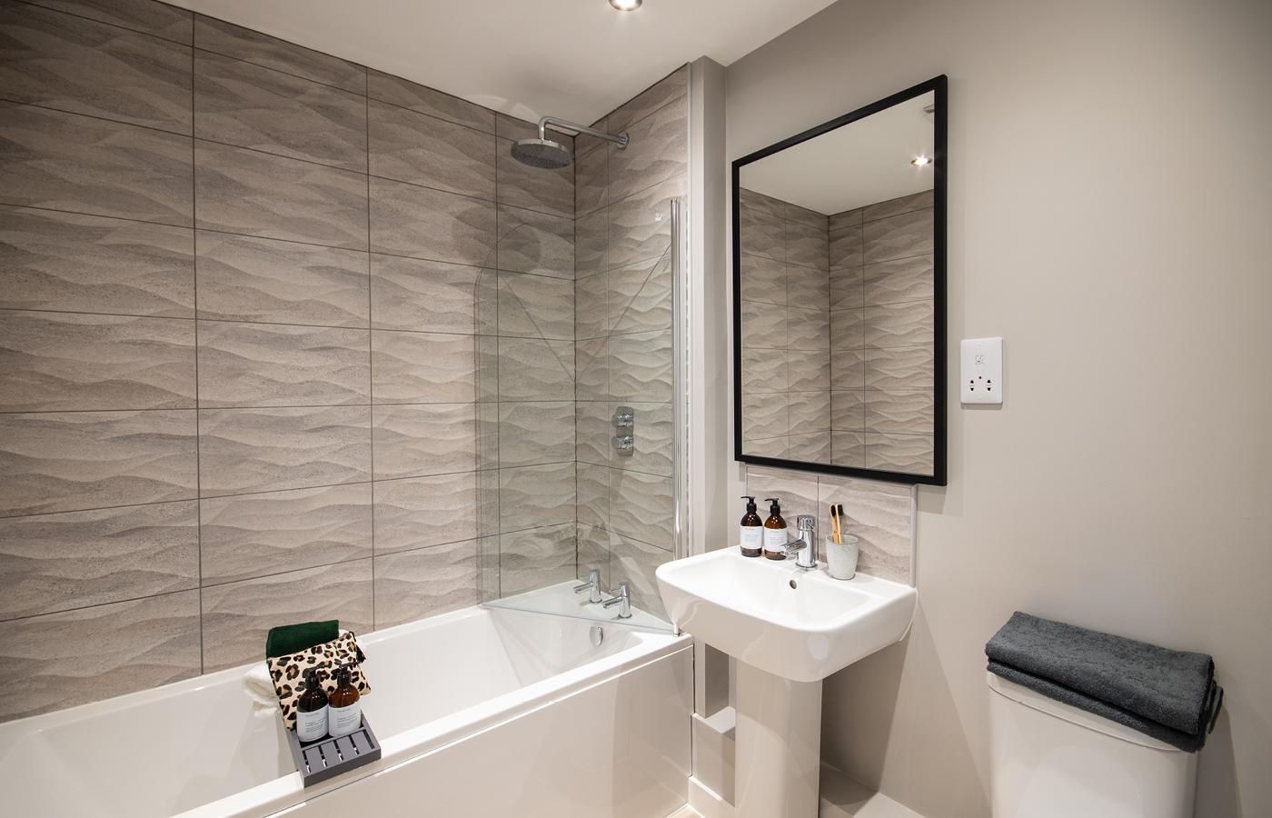 luxury waterside apartments nottingham bathroom