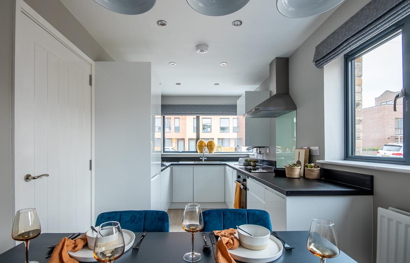 luxury apartment nottingham pelham waterside kitchen / diner