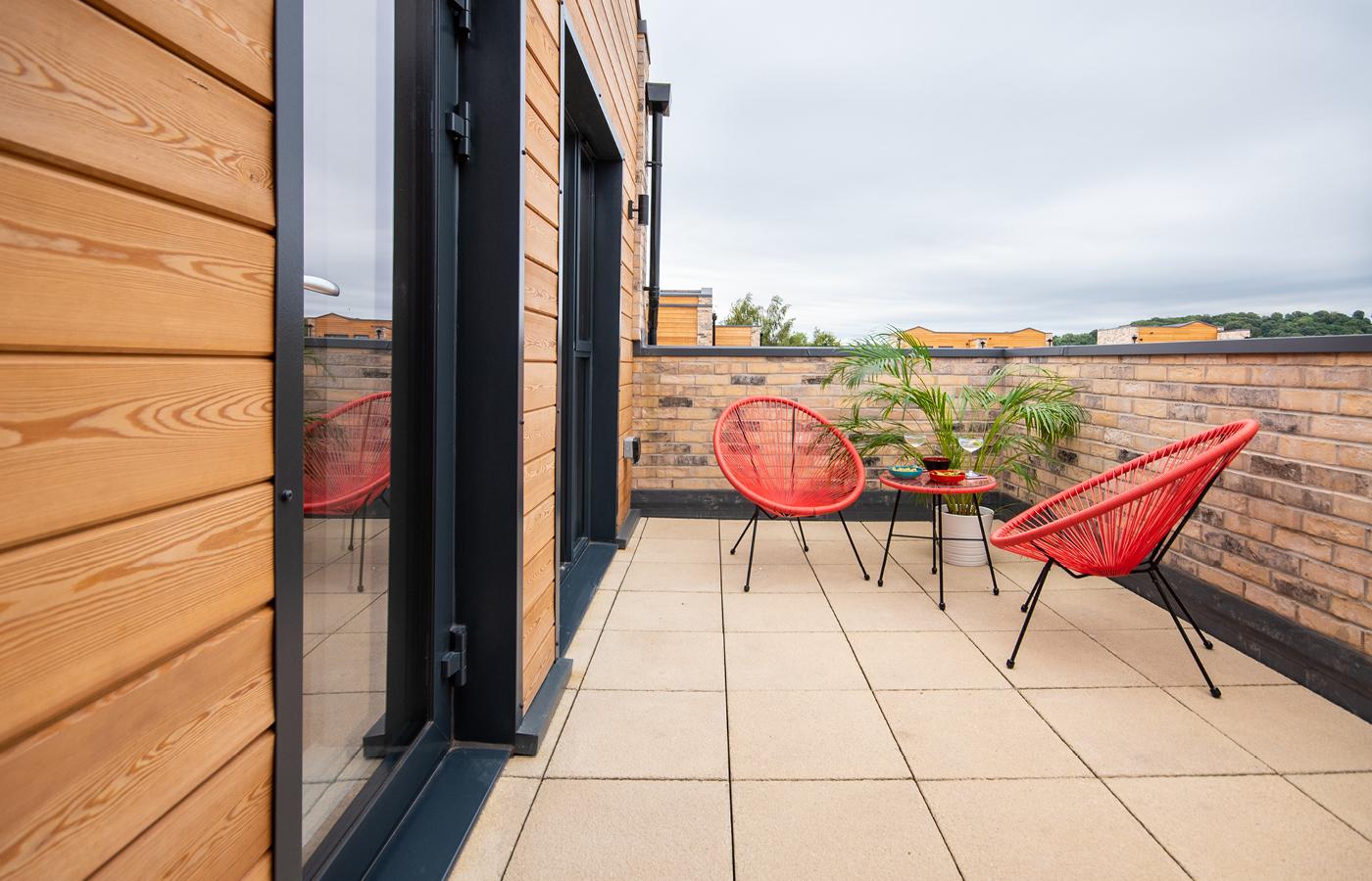 luxury apartment nottingham pelham waterside balcony