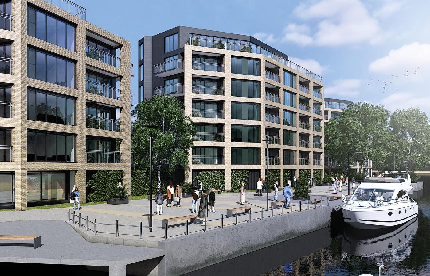 luxury waterside apartments nottingham (cgi image)