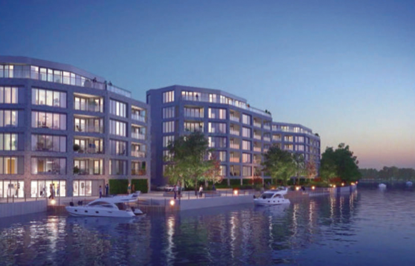 luxury apartment nottingham the yacht club cgi