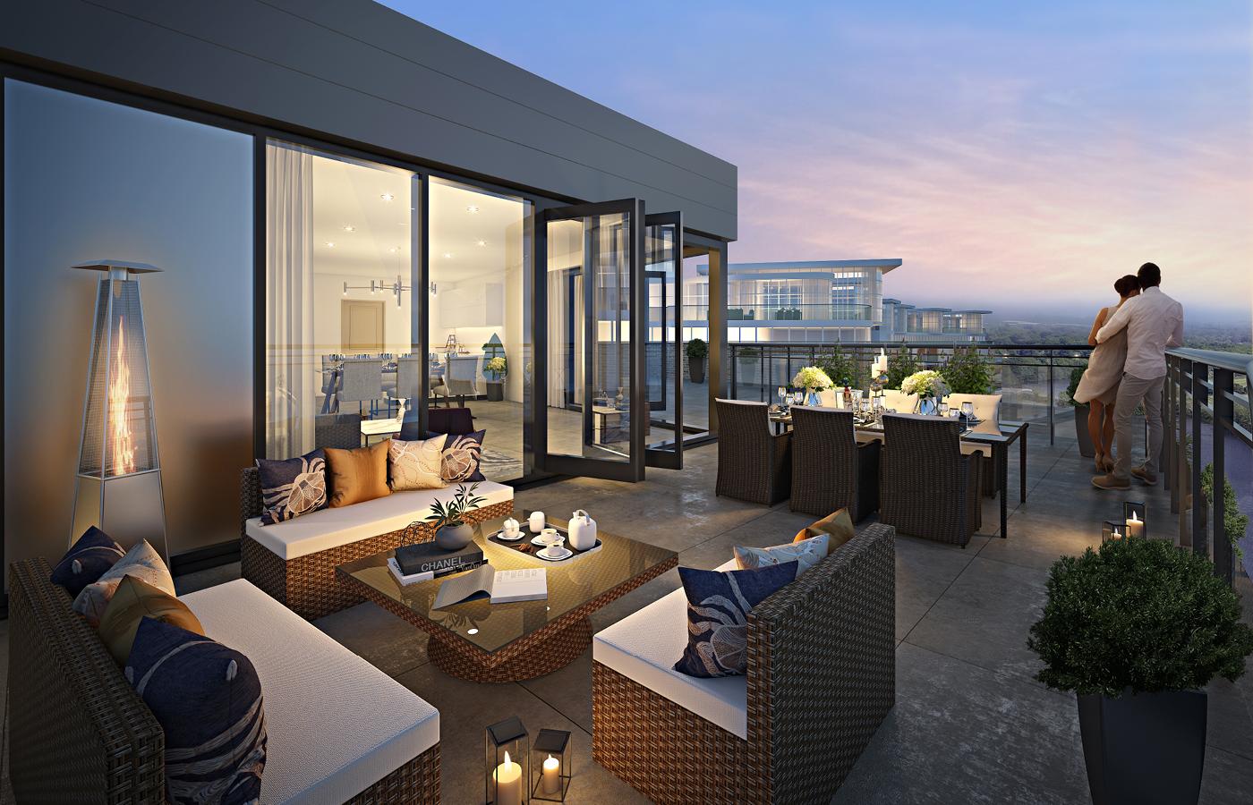 luxury waterside apartments nottingham balcony