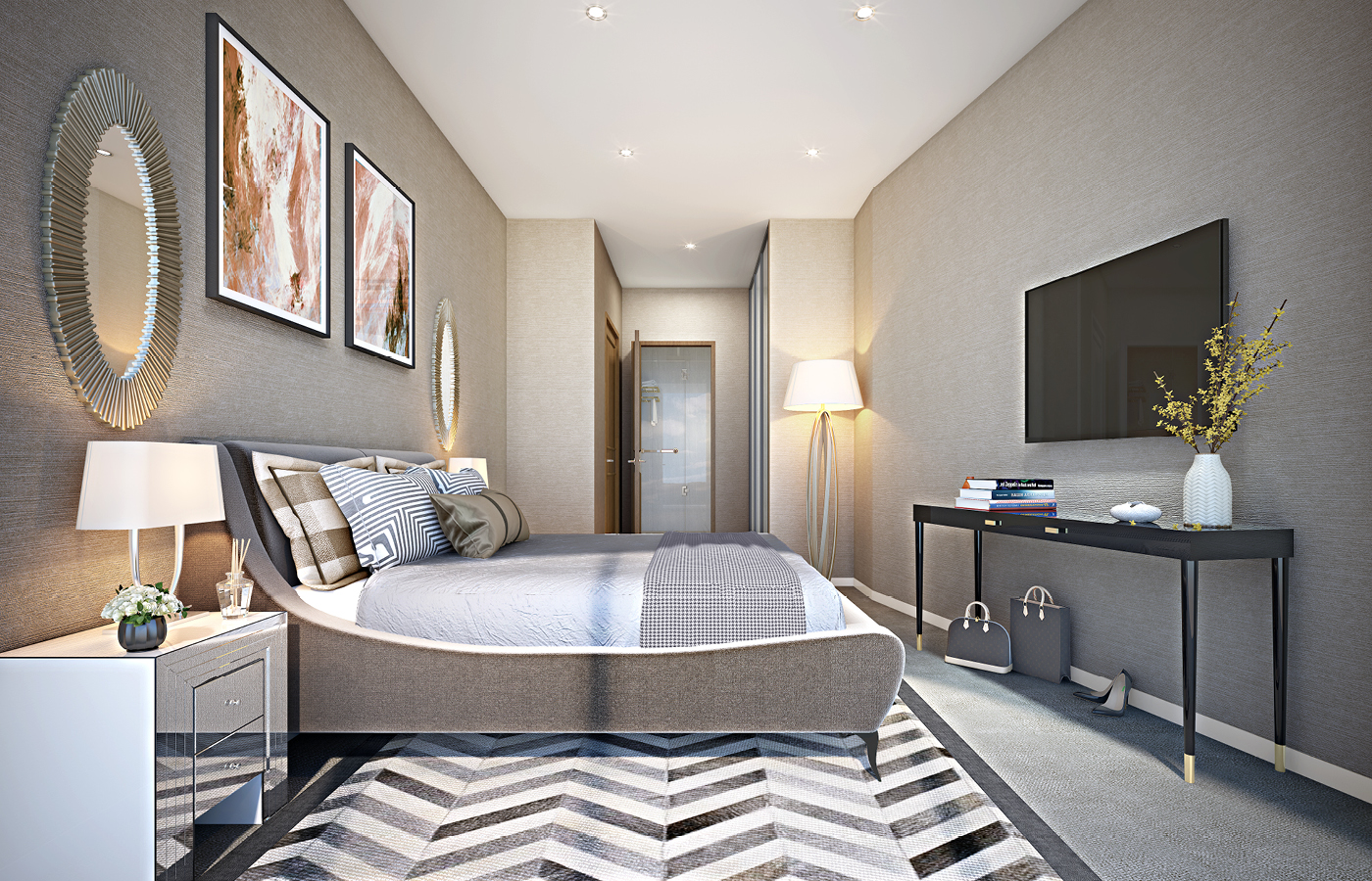 luxury waterside apartments nottingham bedroom