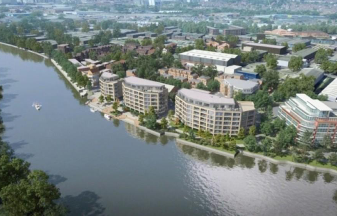 luxury apartment nottingham the yacht club aerial view