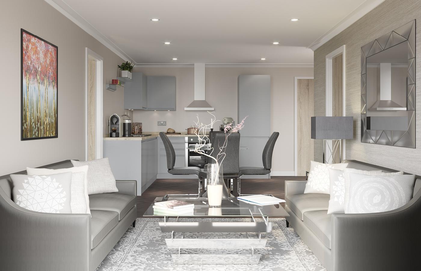 luxury apartment nottingham the yacht club living room