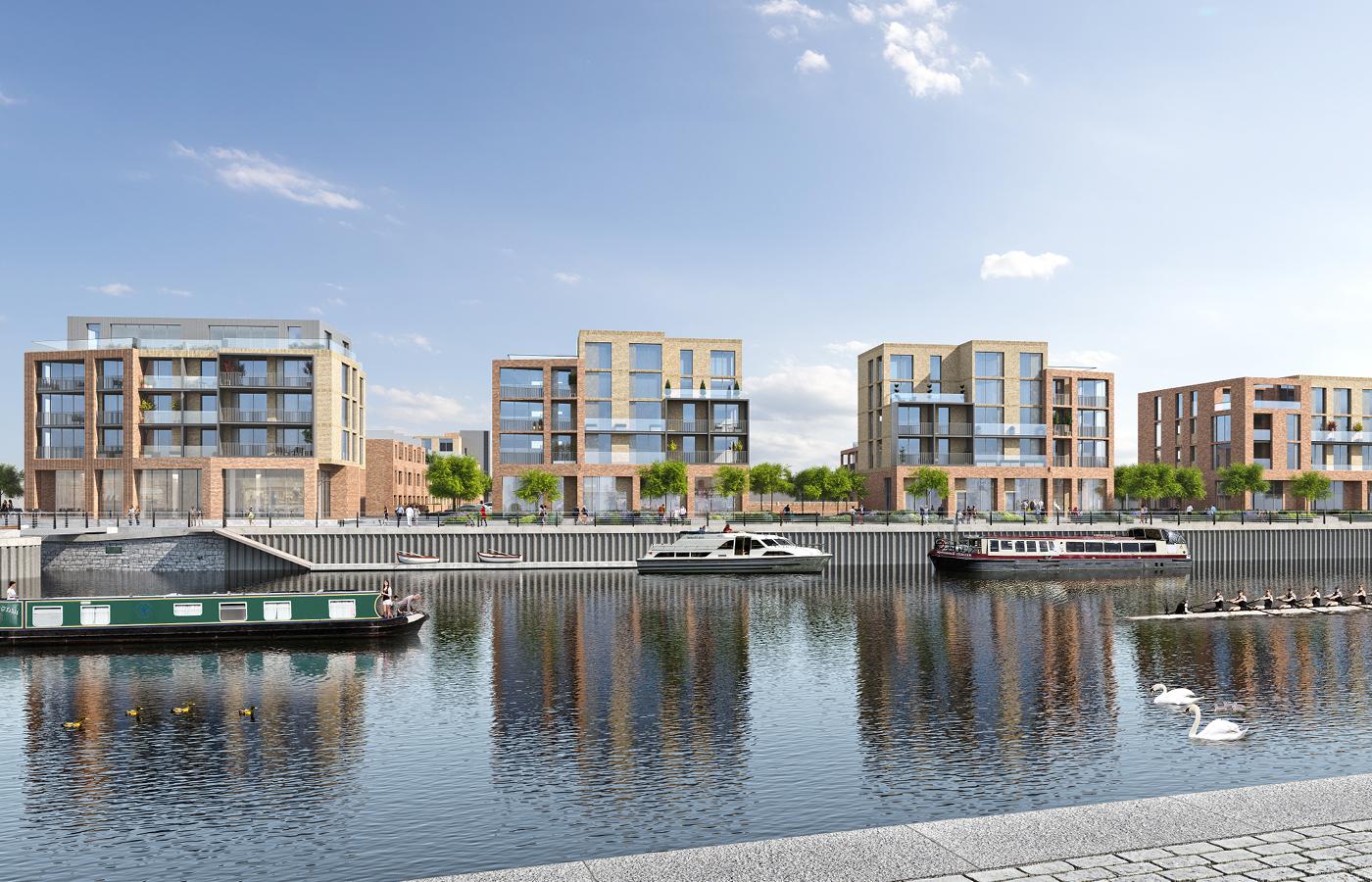 luxury apartment nottingham trent bridge quays cgi