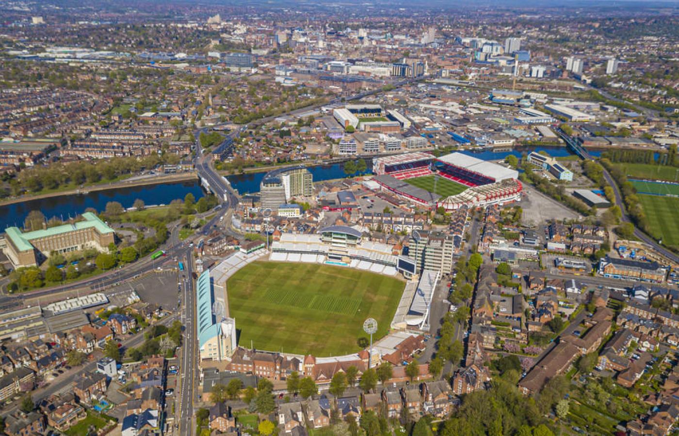 Trent Bridge cricket ground, Nottingham Forest and Notts County