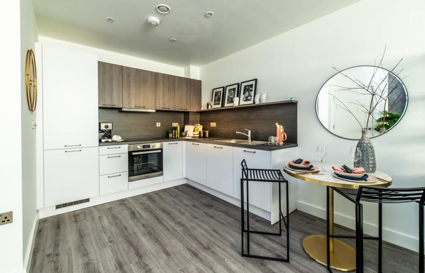 luxury apartment nottingham trent bridge quays kitchen