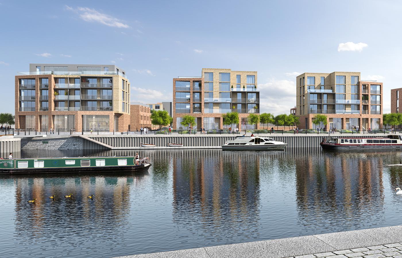 luxury water side apartments nottingham (cgi image)