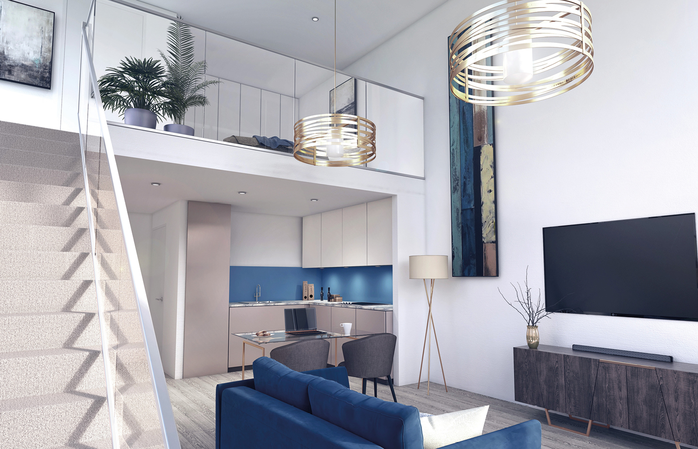 luxury apartment nottingham trent bridge quays mezzanine