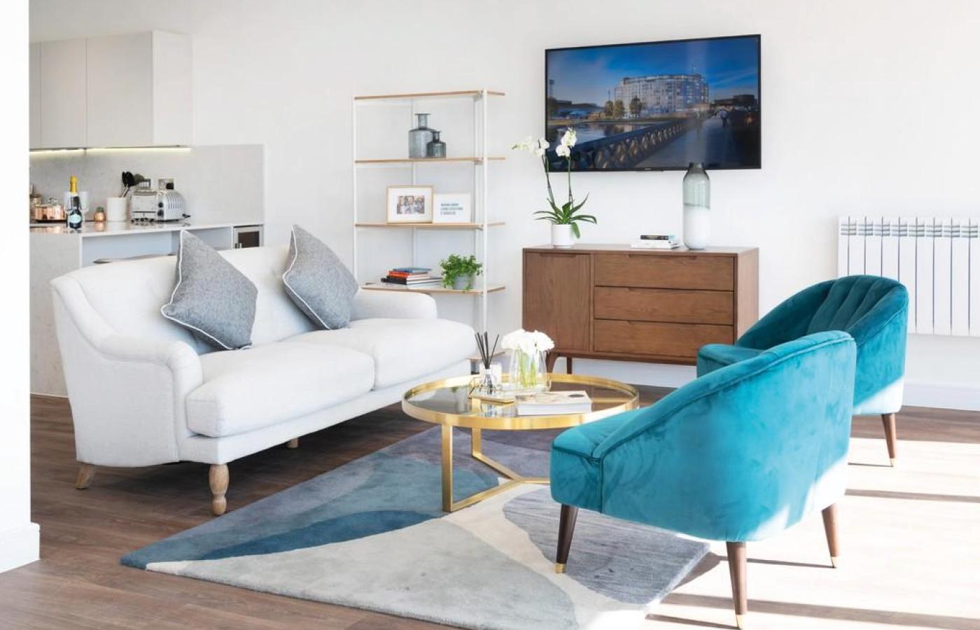 luxury apartment nottingham the waterside living room