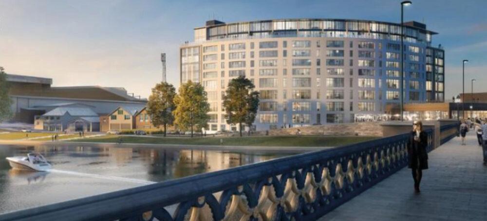 luxury apartment nottingham the waterside cgi