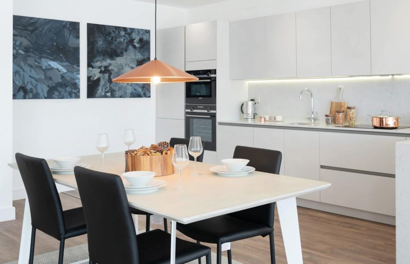 luxury apartment nottingham the waterside kitchen / diner